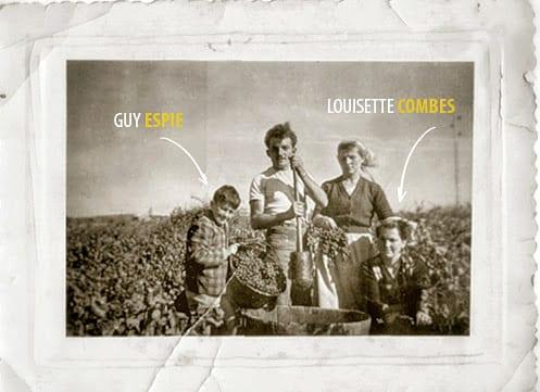 Le petit garçon sur la gauche est Guy Espie, mon cousin. Et Louisette Combes, ma grand-mère maternelle.