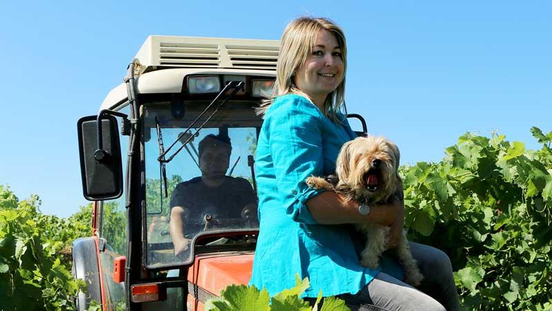 Sur le tracteur, une mise en scène qui nous a fait bien rire !