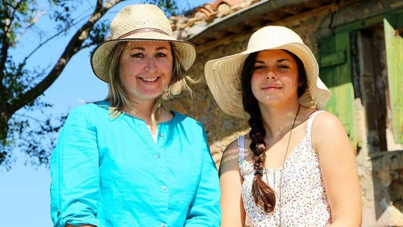 Avec ma fille Cécile Sancho Jougla