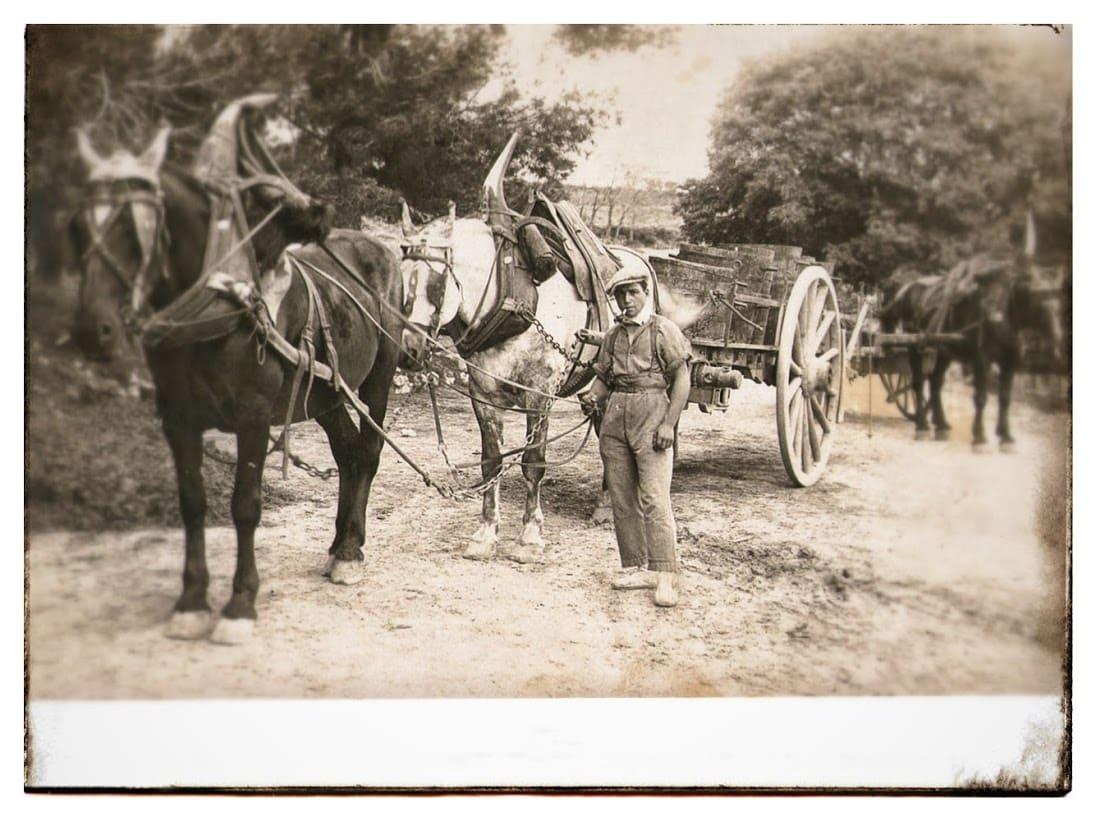 Années 40 au domaine. Gaston Espie, l'oncle de mon grand-père maternel.