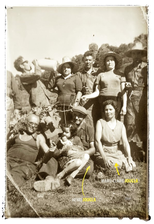Dans les années 1960, famille Jougla : Marie-Claire Jougla, née Colrat, ma grand-mère paternelle. Et Henri Jougla, mon grand-père paternel.
