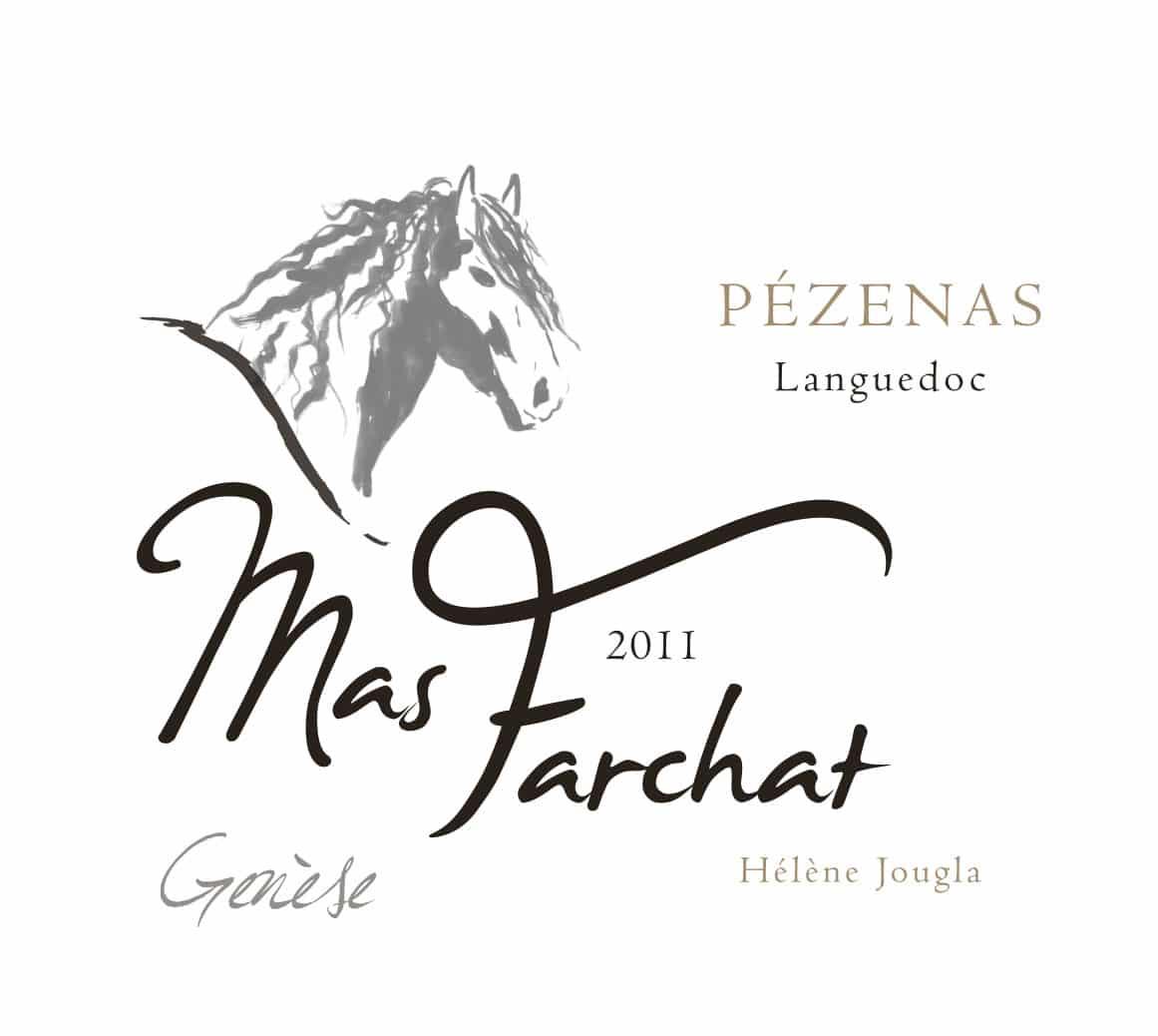 Etiquette de notre cuvée Genèse Mas Farchat 2011